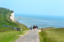 Beachy Head Lighthouse in the distance